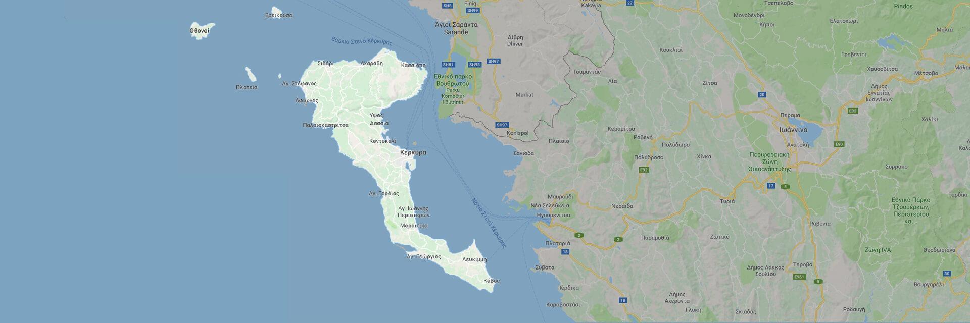 χάρτης κέρκυρα | corfugreece.gr